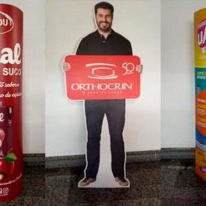 Totem fotográfico pessoa tamanho real